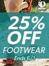 25% Off Pearl Izumi Footwear