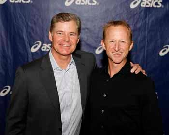 Dan Patrick and Arne Hanson of Asics