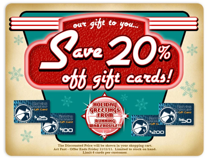 Save 20% Off Gift Cards