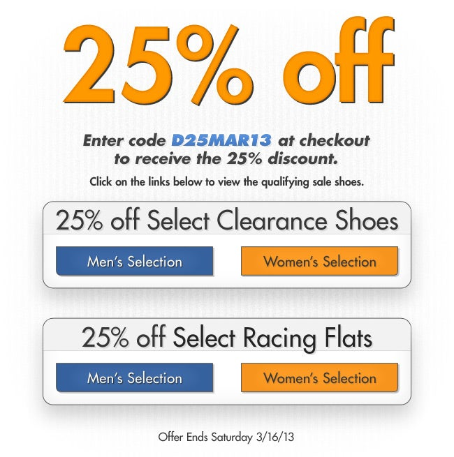 Running Clearance Shoe Sale!