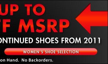 Save up to 50% Off MSRP - Women's Shoes