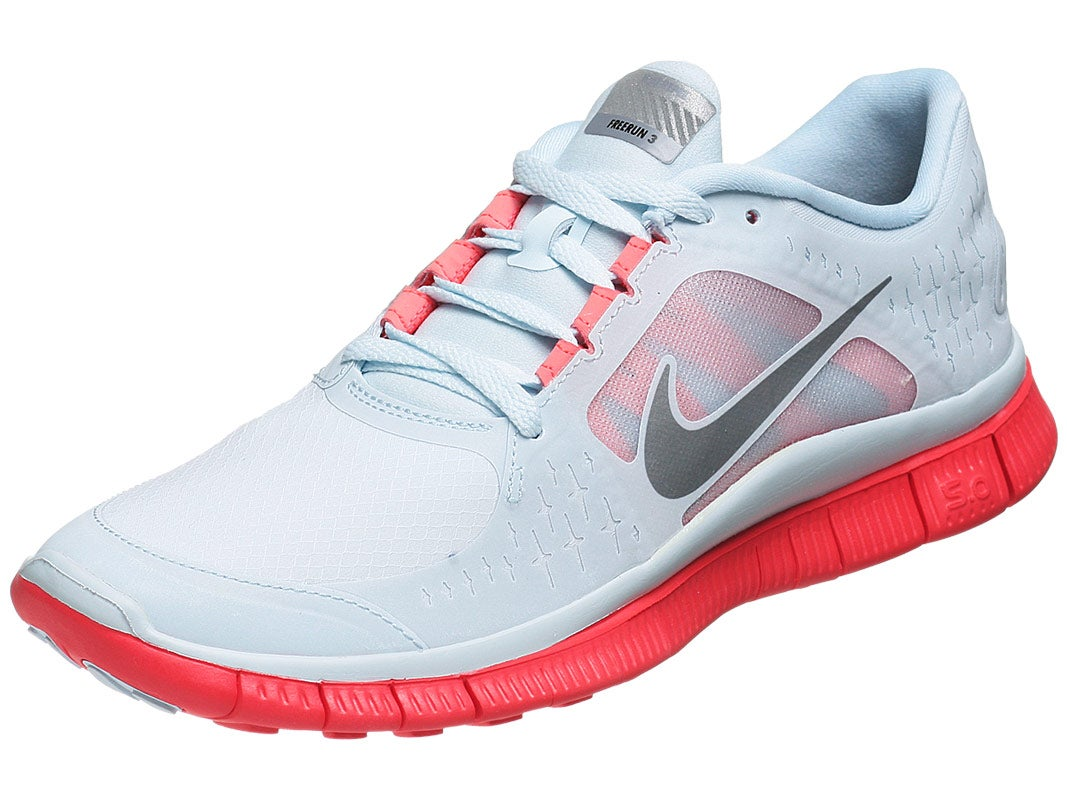Nike FREE Run+ 3 Shield Women's Shoes Crimson/Silver. Price: $110.00