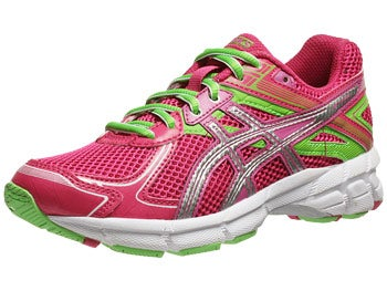 Asics Kids GT 1000 2 GS Girl's Shoes Pnk/Lghtng/Apple