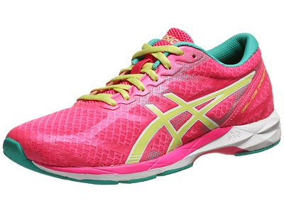 ASICS Gel DS Racer 10 Women's Shoes Pink/Lime/Emrld