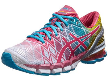 ASICS Gel Kinsei 5 Women's Shoes White/Teaberry/Yellow