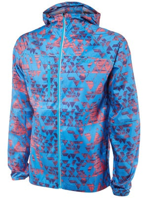 ASICS Men's Fuji Packable Jacket Maze Atomic Blue