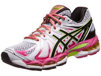 ASICS Gel Nimbus 15 Women's Shoes Wht/Bk/Pk
