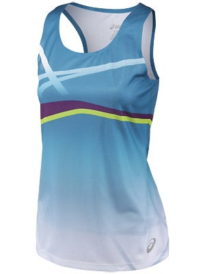 Asics Women's Kayano Singlet Blue & Plum