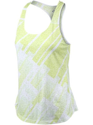 Asics Women's Tessa Burnout Racerback Lime & Steel