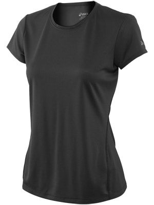 ASICS Women's Core Short Sleeve Black & White