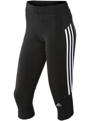 adidas Womens Response 3/4 Tight Bk/Wh