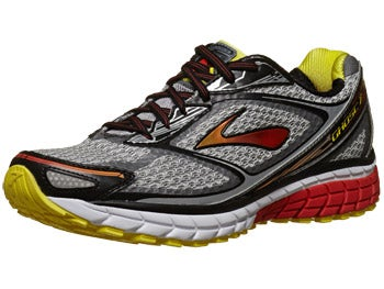Brooks Ghost 7 Men's Shoes Silver/Black/Red