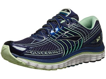 Brooks Glycerin 12 Women's Shoes Blue/Green/Silver