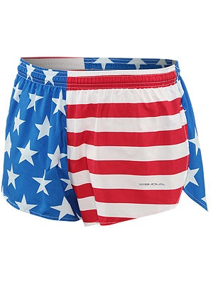 BOA Men's 1inch Elite Split Leg Short US Flag
