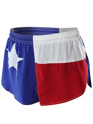 BOA Men's 1inch Elite Split Leg Short Texas Flag