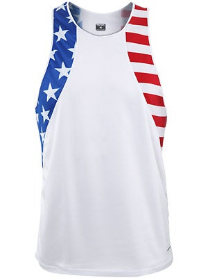 BOA Men's Patriot Print Singlet US Flag
