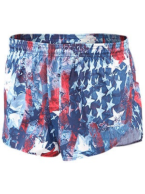 BOA Men's 1inch Elite Split Leg Print Short Liberty