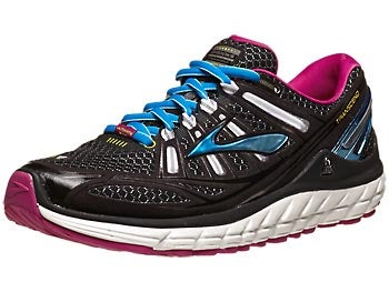 Brooks Transcend Women's Shoes Black/White/Fuchsia