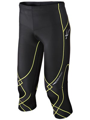 CW-X Men's 3/4 Length Stabilyx Tights Bk/Yellow