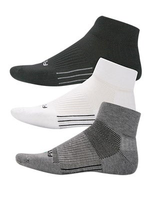 Fitsok CF2 Cushion Quarter Cut Socks 3-Pack