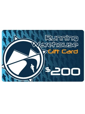 Running Warehouse Gift Card $200