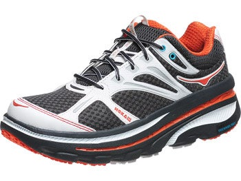 HOKA Bondi B Men's Shoes Anthracite/Orange/White