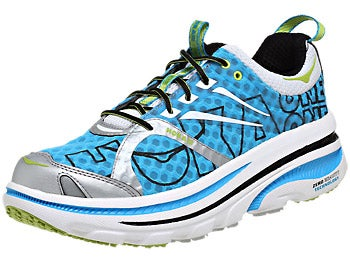 HOKA Bondi 2 Men's Shoes Cyan/White/Lime