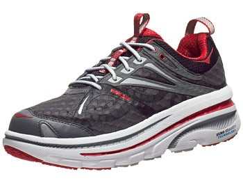 HOKA Bondi 2 Men's Shoes Black/White/Red