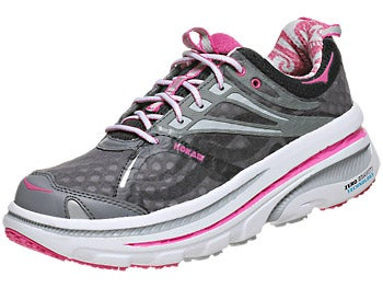HOKA Bondi 2 Women's Shoes Black/White/Fuscia
