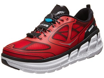 HOKA Conquest Men's Shoes Fiery Red/Black/Silver