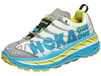 HOKA Stinson Evo Trail Men's Shoes White/Cyan/Citrus