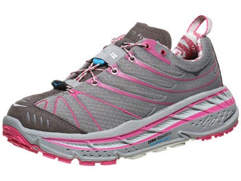 HOKA Stinson Evo Trail Women's Shoes Grey/Fuscia