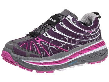 HOKA Stinson Trail Women's Shoes Plum/White/Fushia