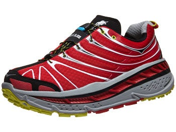 HOKA Stinson Trail Men's Shoes Red/Light Grey/Black