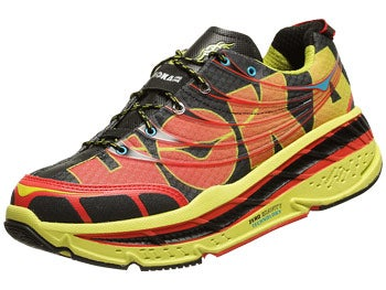 HOKA Stinson Tarmac Men's Shoes Black/Citrus/Red