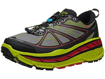 HOKA Stinson ATR Men's Shoes Lime/Black/Red