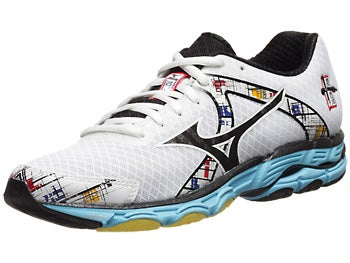 Mizuno Wave Inspire 10 Women's Shoes Wht/Blk/Aq