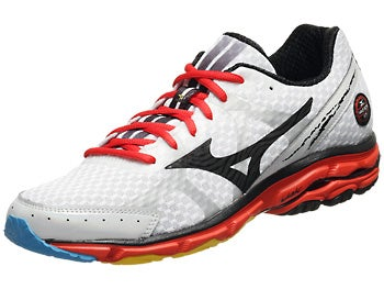Mizuno Wave Rider 17 Men's Shoes White/Black/Fiesta