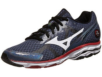 Mizuno Wave Rider 17 Men's Shoes Indigo/White/Cherry