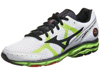 Mizuno Wave Rider 17 Men's Shoes Wh/Grn/Tangrne