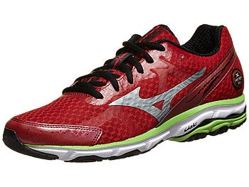 Mizuno Wave Rider 17 Men's Shoes Cherry/Silver/Green