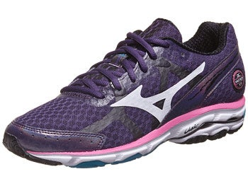 Mizuno Wave Rider 17 Women's Shoes Purp/White/Pink