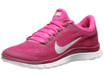 Nike Free 3.0 v5 Women's Shoes Raspberry Red/Pink Foil