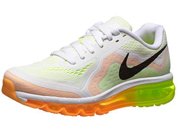 Nike Air Max+ 2014 Women's Shoes White/Mango/Volt