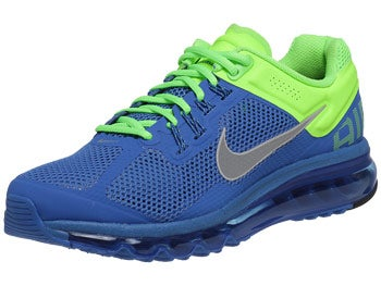 Nike Air Max+ 2013 Men's Shoes Blue/Lime/Silver