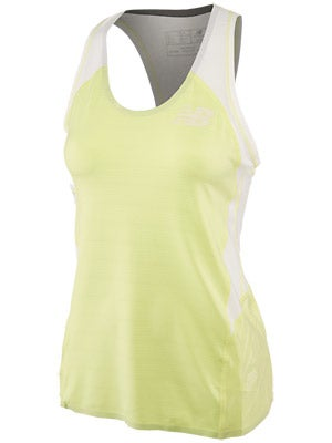 New Balance Women's Boylston Singlet Lime & Watermelon