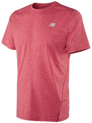 New Balance Men's Heathered Short Sleeve Velocity Red