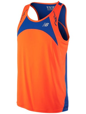 New Balance Men's Impact Singlet Orange & Yellow