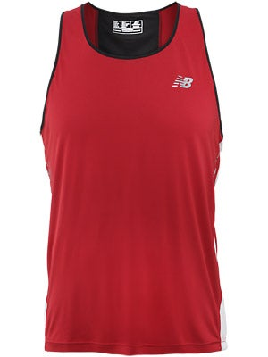New Balance Men's Impact Singlet Red & White