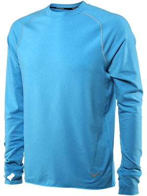Nike Men's DF Feather Fleece Crew Vivid Blue